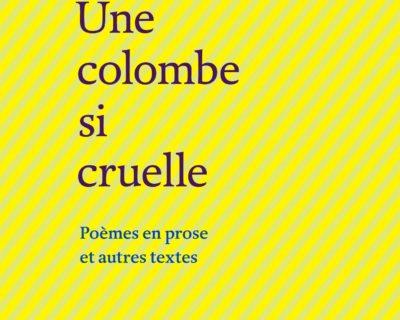 Une colombe si cruelle – Federico Garcia Lorca